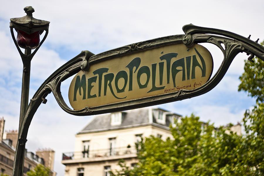 Il métro parisien e l'art nouveau