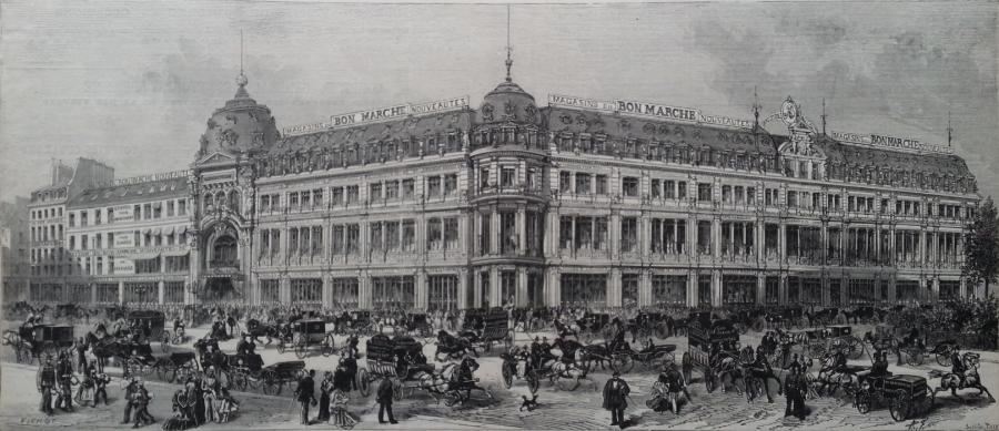 facciata del primo dei grandi magazzini