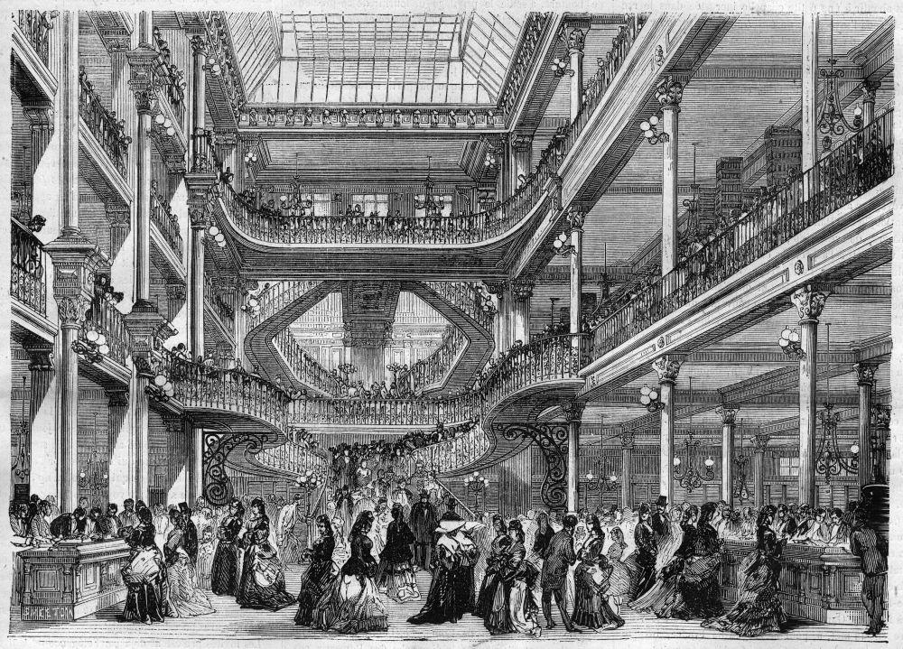 interni del primo dei grandi magazzini