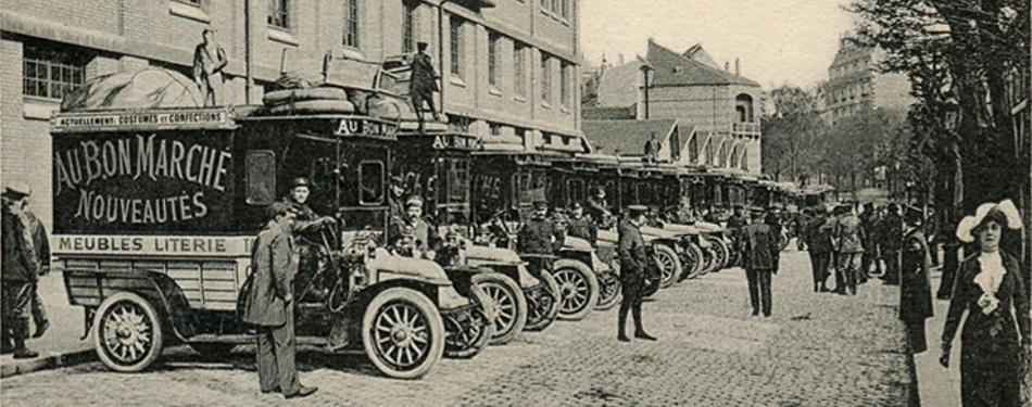 furgoni per le consegne dei grandi magazzini