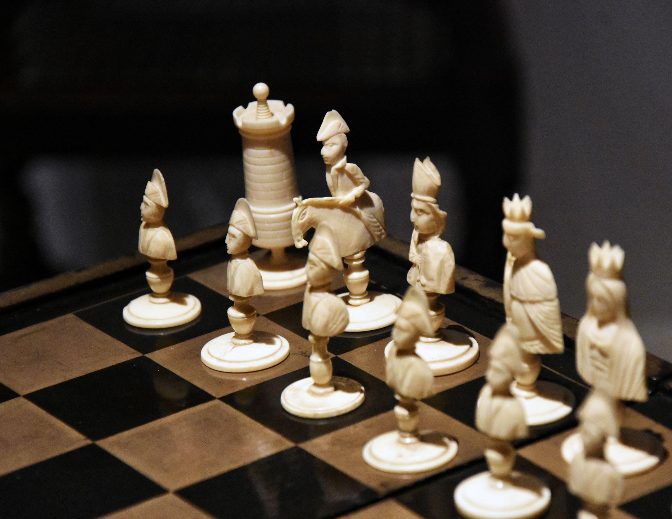 Oggetti di uso quotidiano a Malmaison: scacchiera