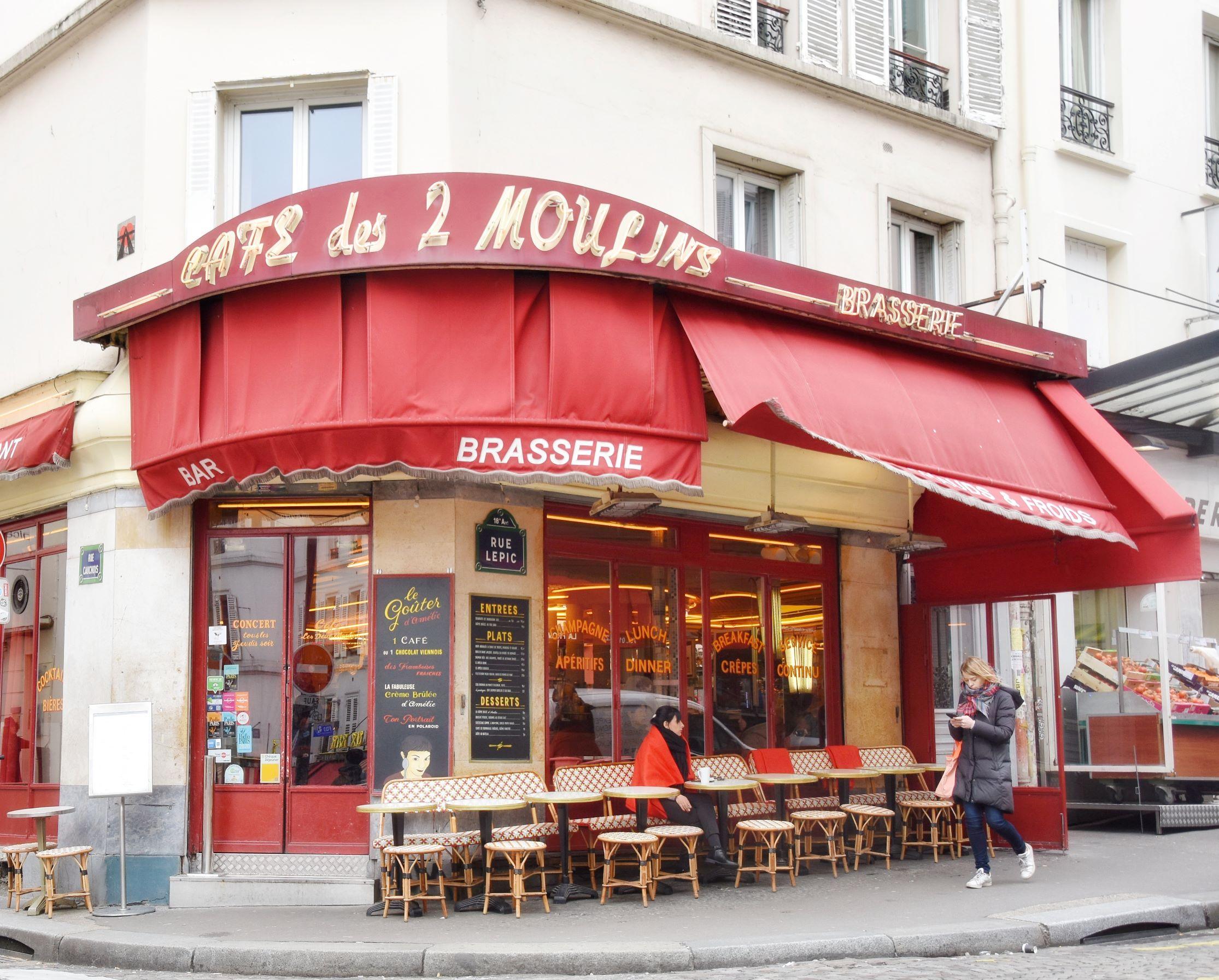 Il caffè dove lavora Amélie