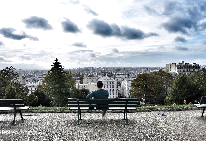 La vista che si gode dalla terrazza dove Nino inquadra Amélie col cannocchiale