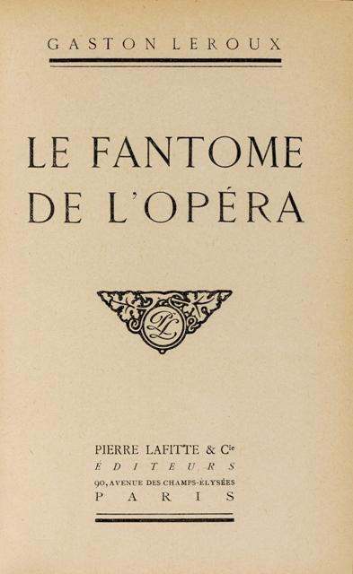 """copertina di un'edizione rara de """"Il fantasma dell'Opéra"""""""