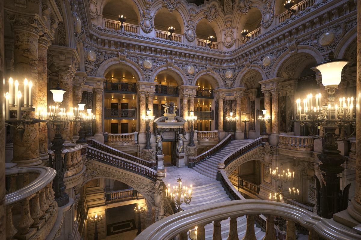 Corridoi e scale dove si aggirava il fantasma nottetempo