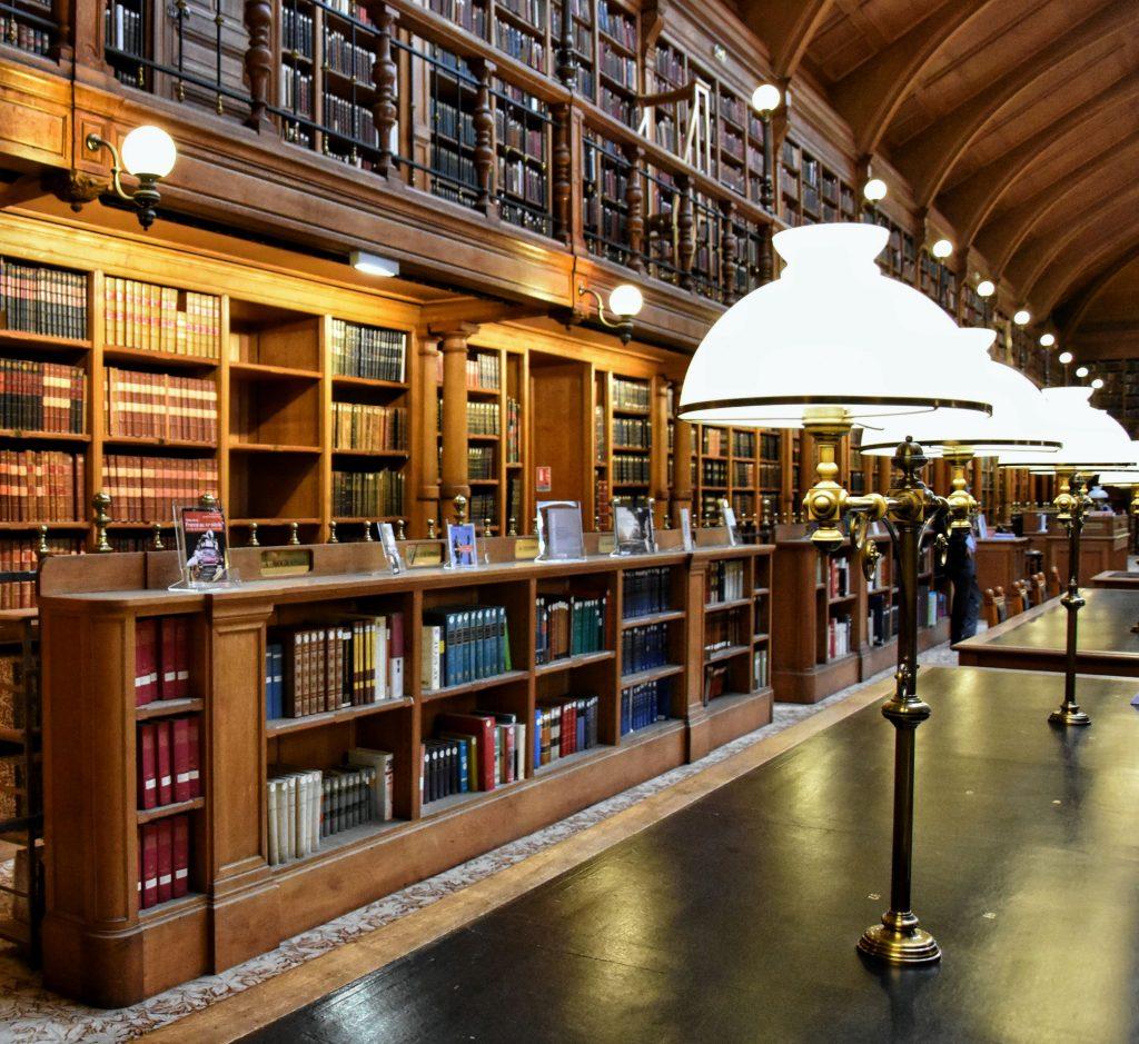 Biblioteca e sala lettura dell'Hôtel de Ville
