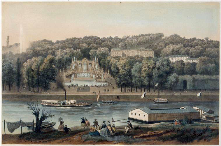 Il parco di Saint-Cloud nel 1866