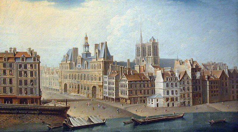 L'Hôtel de Ville e place de la Grève nel 1753