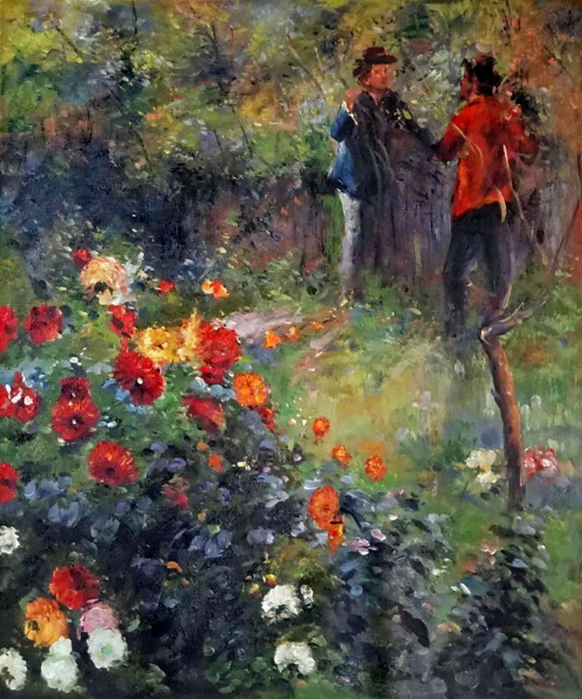 I giardini di rue Cortot dipinti da Renoir