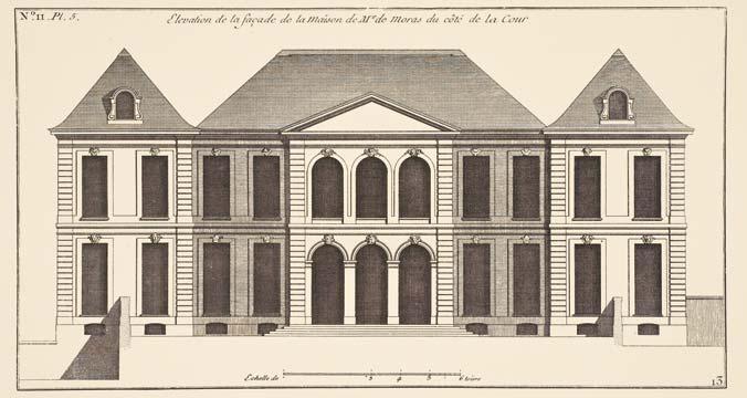 Facciata dell'Hôtel Biron, disegno