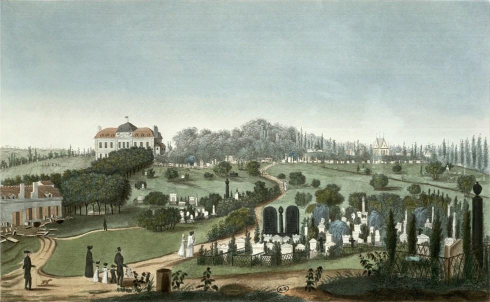 Il cimitero di Père Lachaise nei primi anni