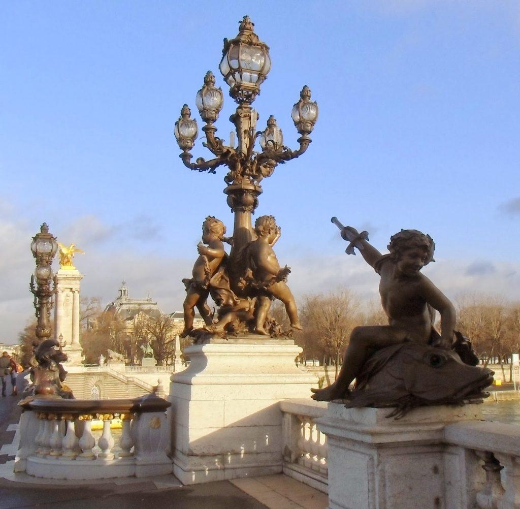 Lampioni sul pont Alexandre III